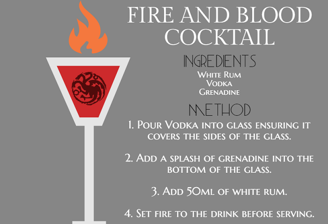 Fire and Blood Cocktail
