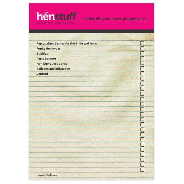 hen night list
