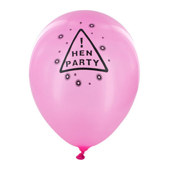 12 Pink Hen Party Balloons