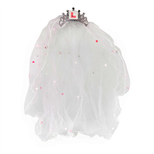 White Wedding Veil with L Plate Comb