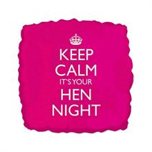 Keep Calm It's Your Hen Night Helium Balloon