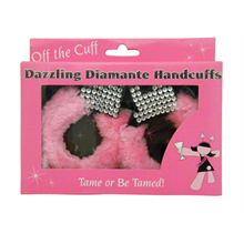 Fluffy Pink Diamante Handcuffs