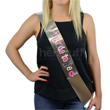 Hen Night Sash Silver - Bride To Be