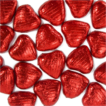 Red Foil Heart Chocolate (10 Pack)