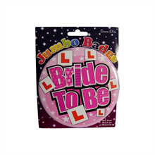 Jumbo Bride-to-Be Badge