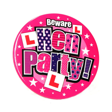 Jumbo Size Hen Party Badge