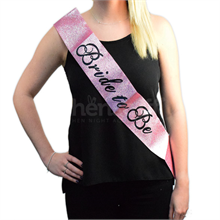 Pink Glitter Bride to Be Sash