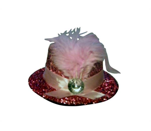 Mini Pink Fascinator Hat 1