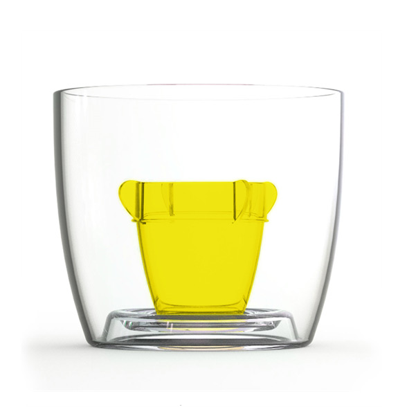 Bomber Jagerbomb Cup - Yellow 10 Pack 1
