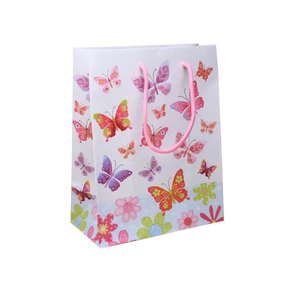 Butterfly Print Gift Bag - 23x18x10cm 1