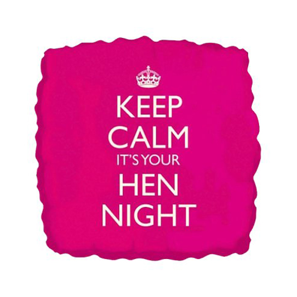 Keep Calm It's Your Hen Night Helium Balloon 1