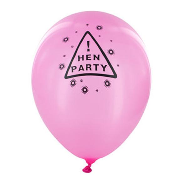 Pink Hen Party Balloons (Twelve Pack) 1