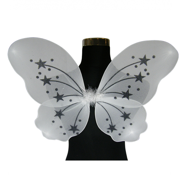 Large Silver Fairy Wings 1