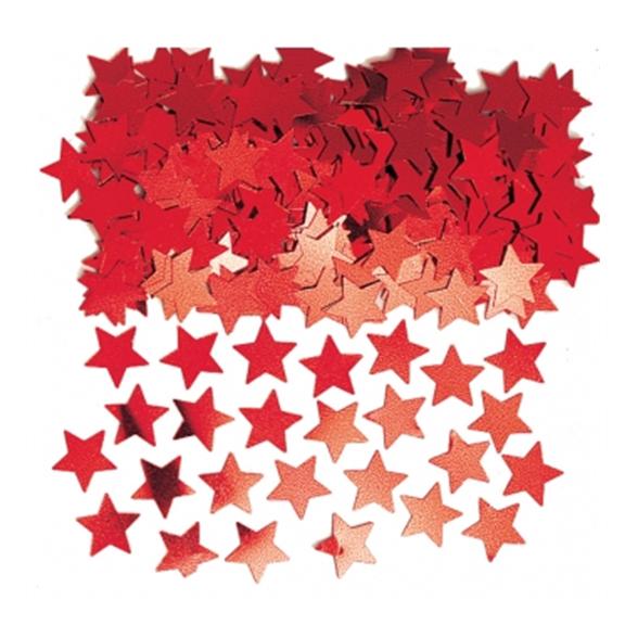 Red Stardust Metallic Confetti 1