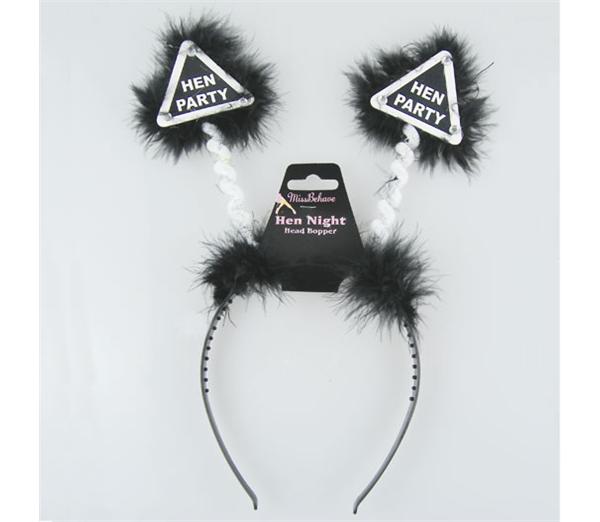 Black Hen Party Warning Bopper 1