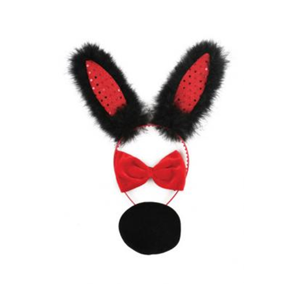 3 Piece Bunny Set Red And Black 1