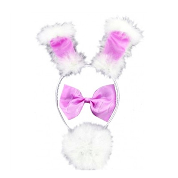 3 Piece Bunny Set Pink And White 1