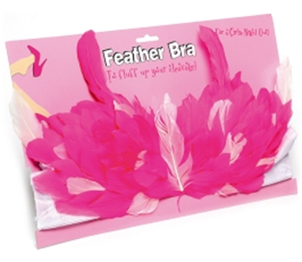 Feather Bra - Hot Pink 1