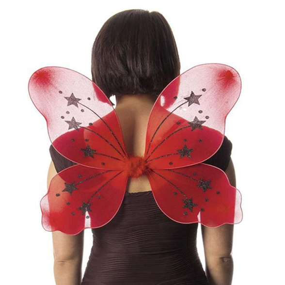 Large Red Fairy Wings 1