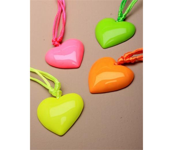 Large Neon Heart Pendant Necklace 1