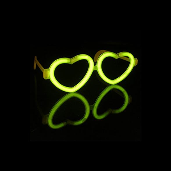 Glow Heart Love Glasses (Including Glow Sticks) 1