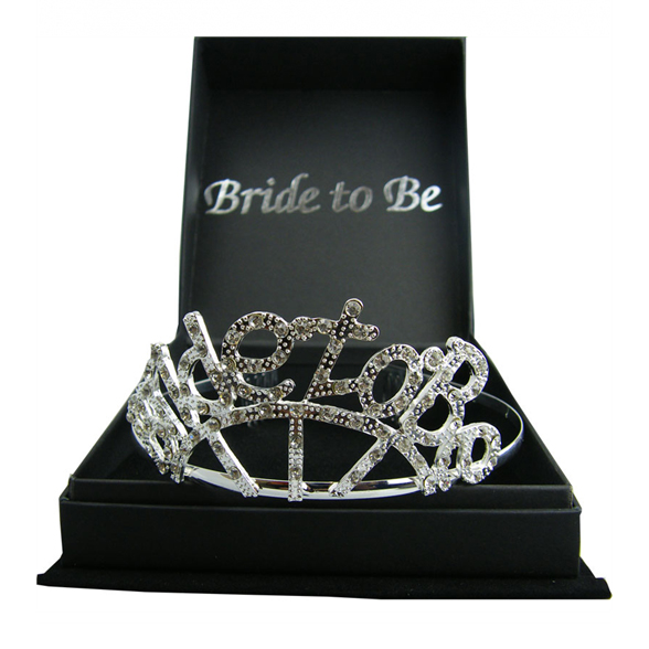 Boxed Diamante Bride to Be Tiara 1