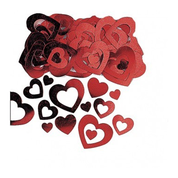 Red Heart Die Cut Confetti 1
