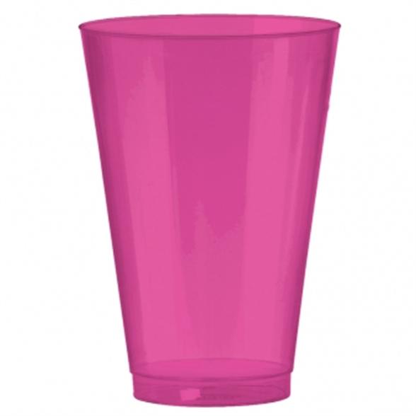 Bright Pink Premium Plastic Tumblers 414ml (36 Pack) 1