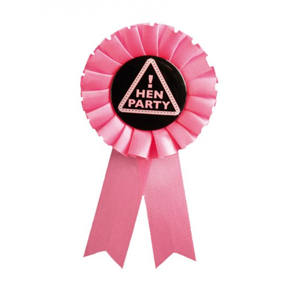 Pink Hen Party Rosette 1