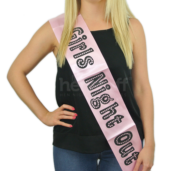 Miss Behave Girls Night Out Sash 1