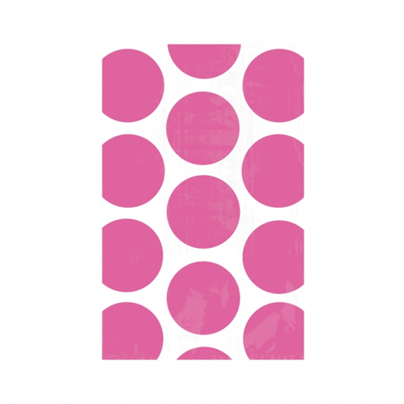 Candy Buffet Polka Dots Treat Bags Bright Pink (10 Pack) 1