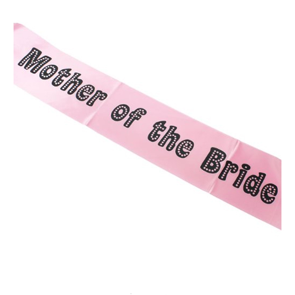 Miss Behave Mother of the Bride Sash 1