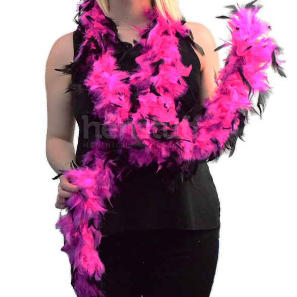 Hen Party Boa Black/Pink 1