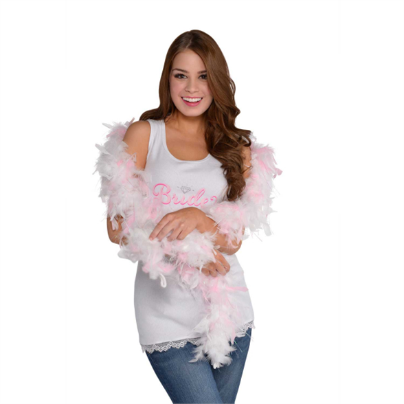 Hen Party Boa White/Pink 1