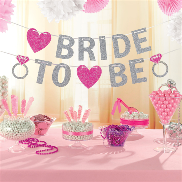 Hen Party Bride to Be Glitter Banner 3.65m 1