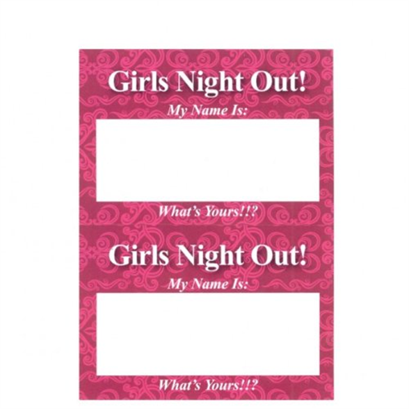 Girl's Night Out Name Tags 1