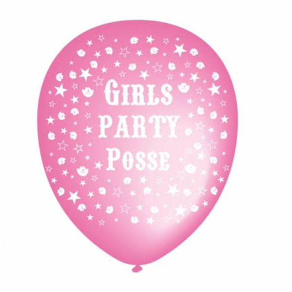 Party Posse Latex Balloons (6 Pack) 1