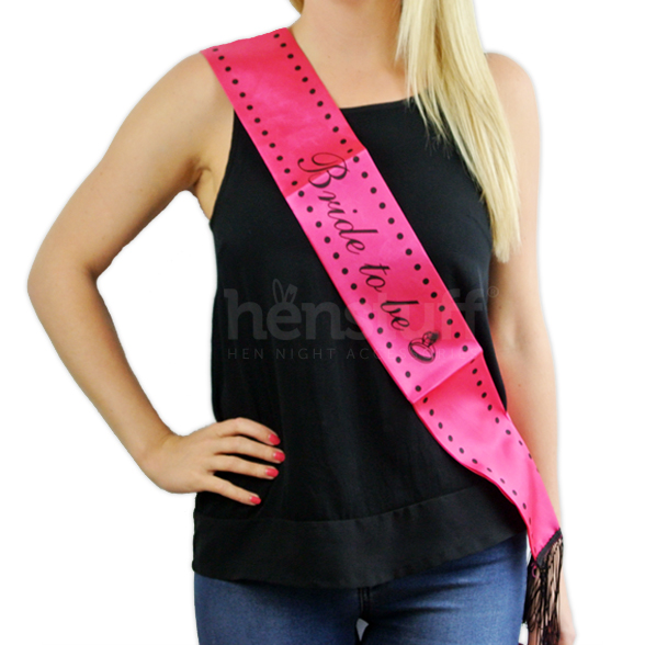 Hen Night Sash with tassels & Feathers 1