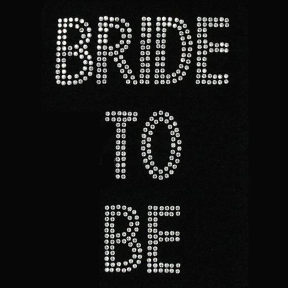 Iron On Bride to Be Diamante Transfer 1