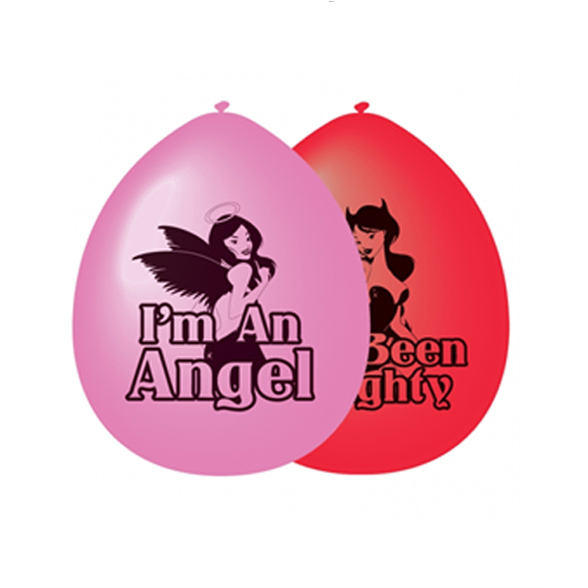 Red & Pink Good Girl Bad Girl Balloons (10 Pack) 1