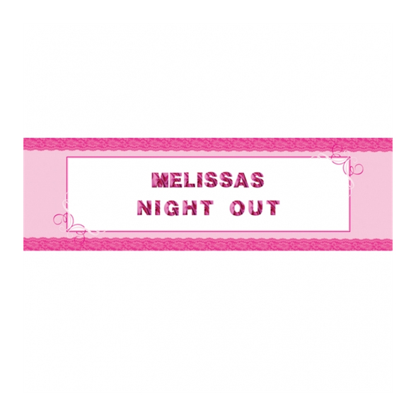 Girl's Night Out Giant Personalised Banner 1