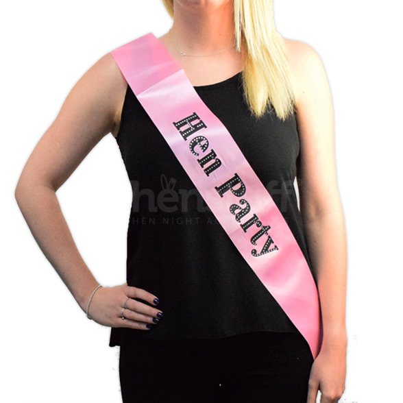 Hen Party Diamante Sash 1