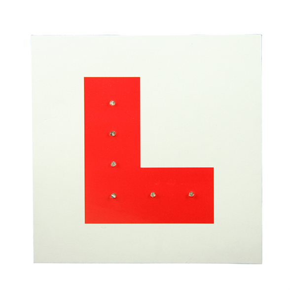 Flashing Red L Plate 1