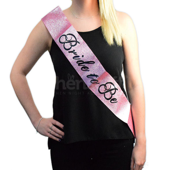 Pink Glitter Bride to Be Sash  1