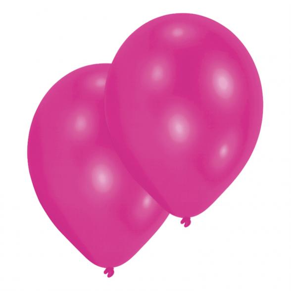 Metallic Magenta Latex Balloons - Ten Pack 1