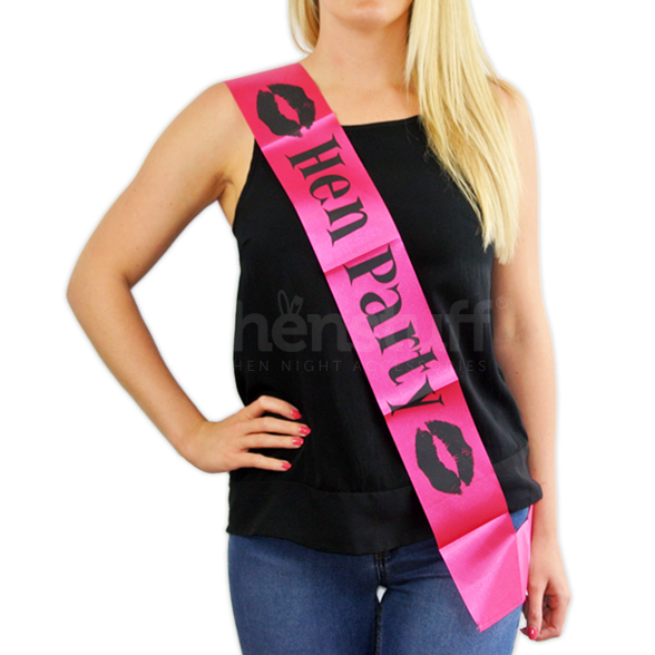 Pink Hen Party Sash 1
