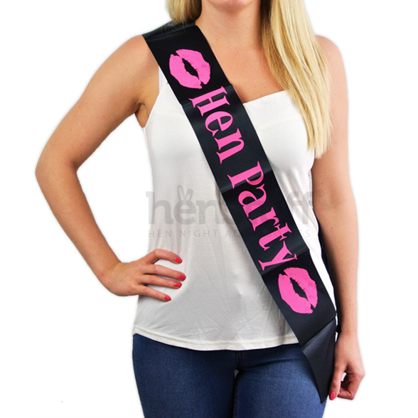 Black Hen Party Sash 1