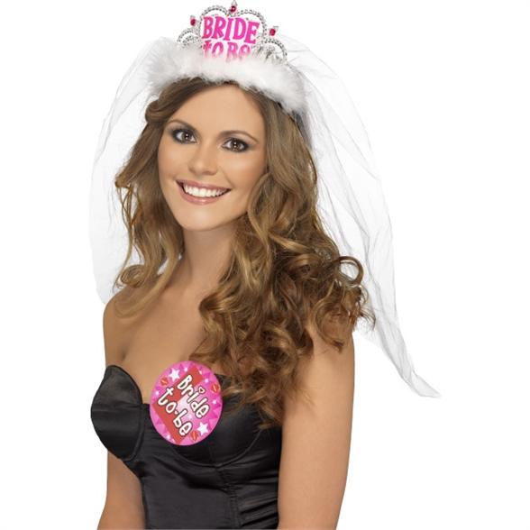 Bride to Be Tiara with Veil 1