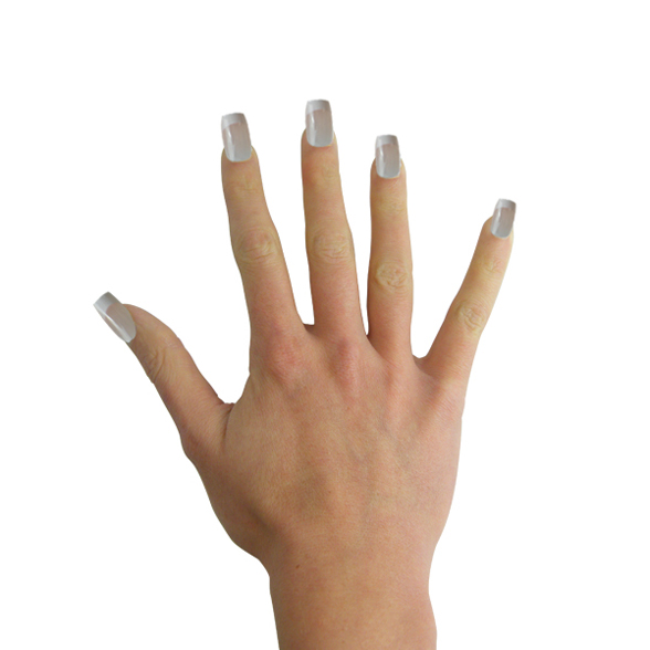 French Manicure Fake Nails 2