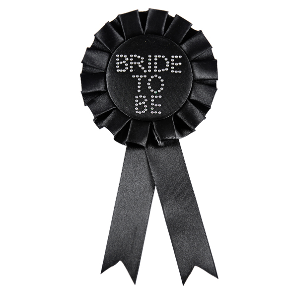 Bride To Be Black Rosette 2
